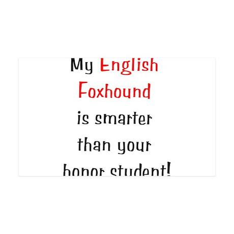 My English Foxhound is smarte 38.5 x 24.5 Wall Pee