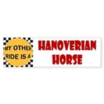 My Other Ride Is A Hanoverian Horse Bumper Sticker