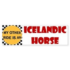 My Other Ride Is An Icelandic Bumper Bumper Sticker