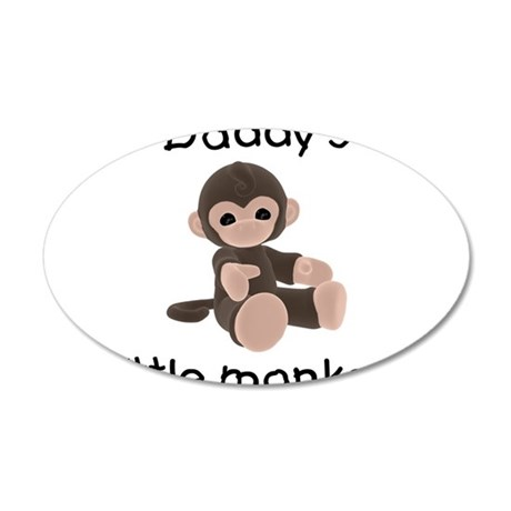 Daddy's little monkey (brown) 38.5 x 24.5 Oval Wal