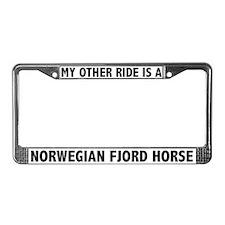 Norwegian Fjord Horse License Plate Frame