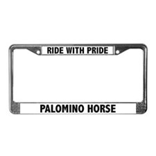 Ride With Pride Palomino Horse License Plate Frame