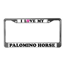 I Love My Palomino Horse License Plate Frame