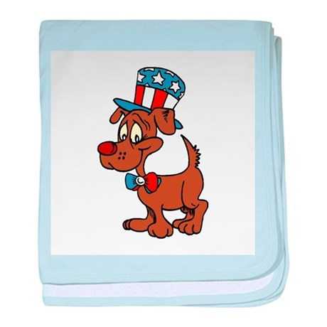 Patriotic Dog baby blanket