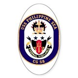 USS Philippine Sea CG 58 Oval Decal