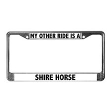Shire Horse License Plate Frame