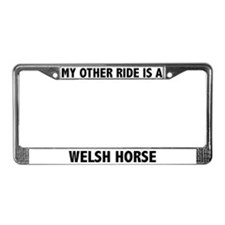 Welsh Horse License Plate Frame