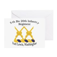 1st Bn 20th Infantry Greeting Cards (Pk of 10)