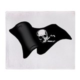 Pirates flag Throw Blanket