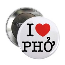 "I Love (Heart) Pho 2.25"" Button"