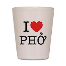 I Love (Heart) Pho Shot Glass