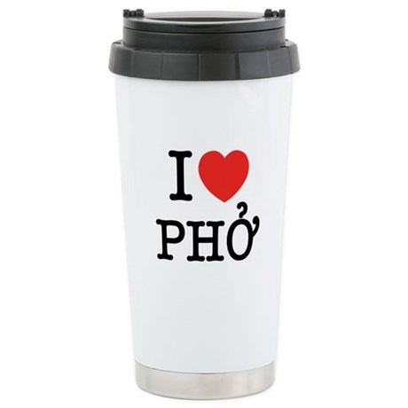 I Love (Heart) Pho Ceramic Travel Mug