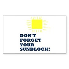 Sunblock Reminder Decal