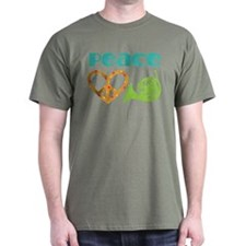 French Horn Peace Love T-Shirt