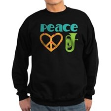 Peace Love Tuba Music Sweatshirt