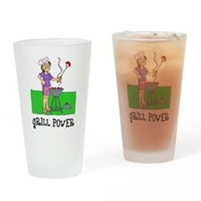 Grill Power Drinking Glass