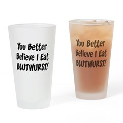 Blutwurst Drinking Glass