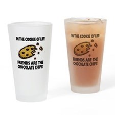 Chocolate Chip Friends Drinking Glass