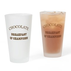 Breakfast Champions Chocolate Drinking Glass