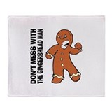 The Gingerbread Man Throw Blanket