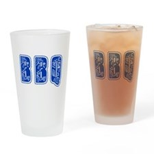 Red White & Blue BBQ Drinking Glass