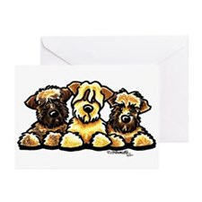 Wheaten Terrier Cartoon Greeting Cards (Pk of 20)