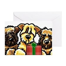 SCWT Wheaten Terrier Christmas Greeting Card
