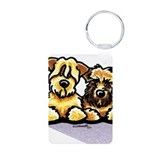 Wheaten Terrier Cartoon Keychains