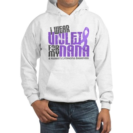 I Wear Violet 6 Hodgkin's Lymphoma Hooded Sweatshi