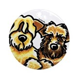 Wheaten Terrier Cartoon Ornament (Round)