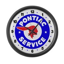 Pontiac Service Large Wall Clock