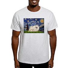 Starry Night white Peke T-Shirt