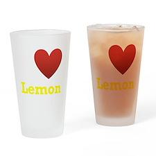 I Love Lemon Drinking Glass