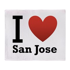 I Love San Jose Throw Blanket