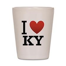 I Love KY Shot Glass