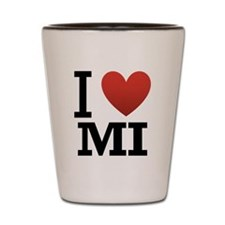 I Love Michigan Shot Glass