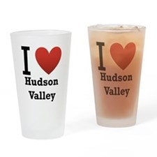 I Love Hudson Valley Drinking Glass