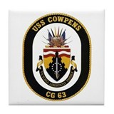 USS Cowpens CG 63 Tile Coaster