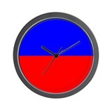 50/50 Red &amp; Blue Wall Clock