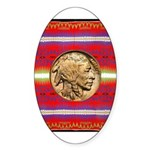Indian Design-02a Sticker (Oval)