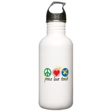 Peace Love Teach Water Bottle