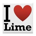 I Love Lime Tile Coaster