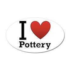 I Love Pottery 38.5 x 24.5 Oval Wall Peel