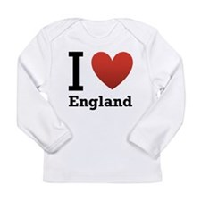 I Love England Long Sleeve Infant T-Shirt