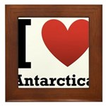 I Love Antarctica Framed Tile
