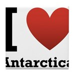 I Love Antarctica Tile Coaster