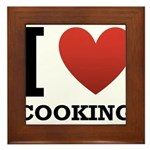 I Love Cooking Framed Tile