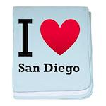 I Love San Diego baby blanket