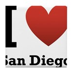 I Love San Diego Tile Coaster