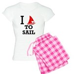 I Love to Sail Women's Light Pajamas